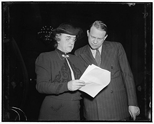 24 x 18 Art Canvas Wrapped Framed Print of Study D.A.R. Program to Promote Americanism. Washington, D.C, Dec. 9. Mrs. Henry M. Robert, Jr, President General of The Daughters 1938 Harris & Ewing 51a