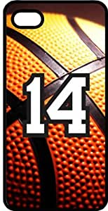 Basketball Sports Fan Player Number 14 Smoke Rubber Decorative iPhone 4/4s Case