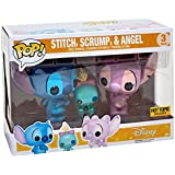 Funko - Figurine Disney Lilo & Stitch - 3-Pack Stitch Scrump Angel Exclu Pop 10cm - 0889698115018