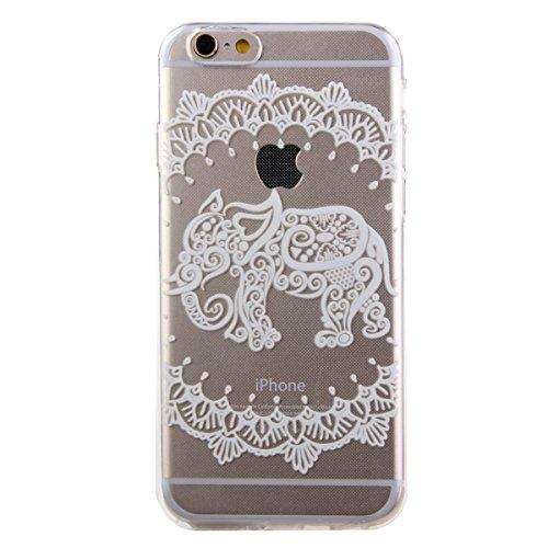 Kakashop iPhone 6(4.7'') Soft Silicone Populaire colorée Coque,Motif de éléphant [Scratch-Resistant] [Perfect Fit] Doux Souple Flexible TPU transparent Cover Housse Protection Étui Pour Apple iPhone 6