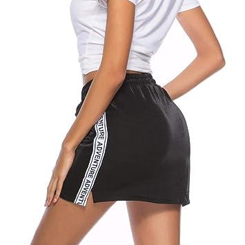 QBXDQ Falda Corta Micro Mini Faldas Mujeres Verano Niñas Faldas ...
