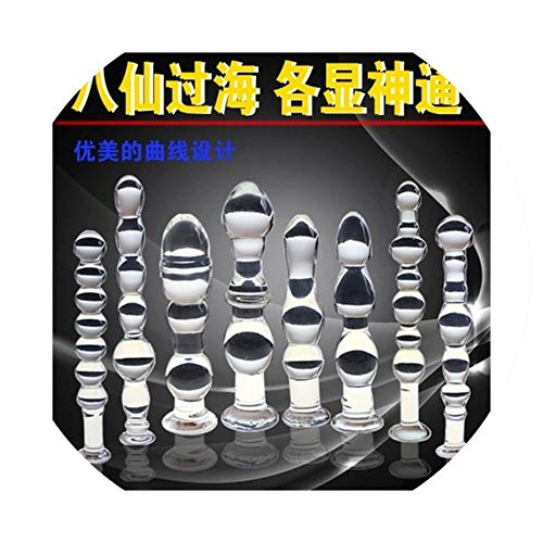Hook 8 Size Glass Plug Beads G Spot Stimulate Sex Products Couples,F