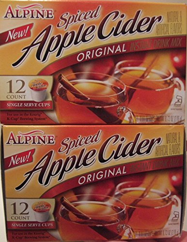 Alpine Spiced Apple Cider K Cup 2 X 12 Ct (2 - Apple Hot Spiced