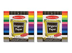 Melissa & Doug Origami Paper (6 x 6 inches) - 51 Pages, 2-Pack