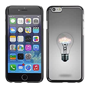 iBinBang / Funda Carcasa Cover Skin Case - Idea Skull Funny Poster Light Bulb Grey - Apple iPhone 6 Plus 5.5