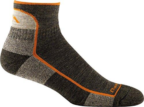 Darn Tough Vermont Men's 1/4 Merino Wool Cushion Hiking Socks, Olive, Large ( Style 1905 ) - 6 Pack