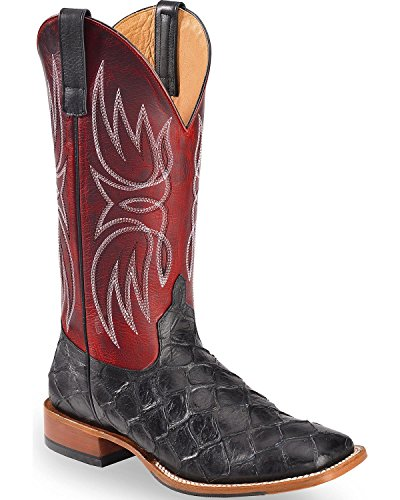 Horse Power Men's Apple Blackened Filet of Fish Boot Square Toe Red 9 D ()