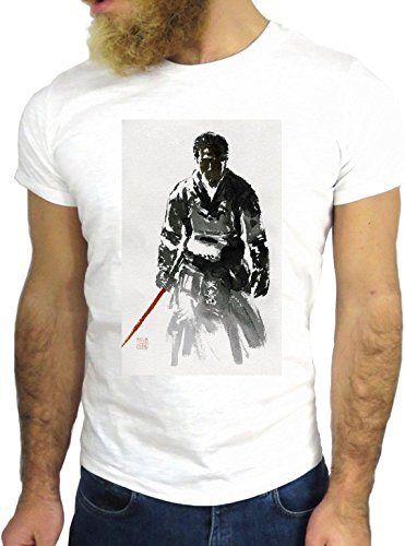 T-SHIRT JODE GGG24 Z0935 MAN GUY PAINT VINTAGE COOL ENJOY LIFESTYLE FASHION SPORT KARATE BIANCA - WHITE M