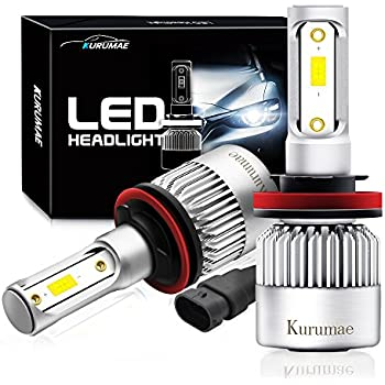 H11 Led Headlight Bulbs - H8 H9 All-in-one LED Headlight Headlamp Conversion Kit 2 Pcs with CSP Chips - 72W,8000Lm,6500K,Waterproof IP65 3-Year Warranty …