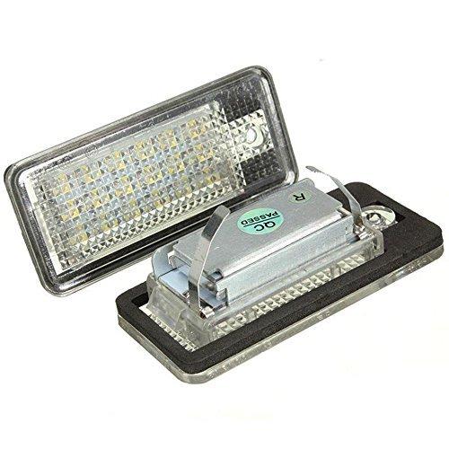 Katur, coppia di luci bianche senza errore Canbus, 18SMD, LED, per illuminare la targa