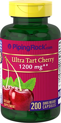 100% Tart (Ultra Tart Cherry 1200 mg 2 Bottles x 100 Capsules)