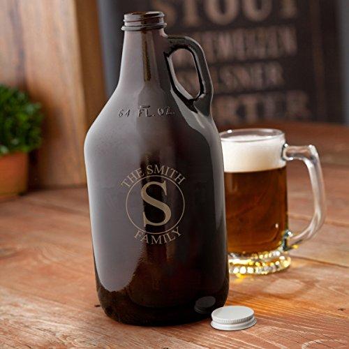 classic amber beer growler - 8