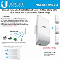 Bundle of 4 Ubiquiti Nanostation LOCO M5 Outdoor MIMO 11n 5GHz. locoM5 (4 pack)