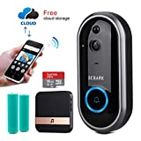 DEBARK Smart Video Doorbell Wireless Home WiFi Security Camera with Indoor Chime, Free