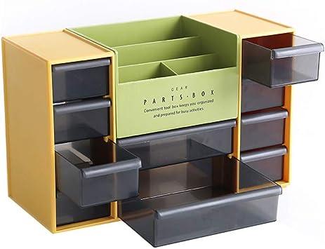Caja De Almacenamiento Tipo De Gaveta De Almacenamiento Cosméticos Oficina del Gabinete De Múltiples Capas De La Caja De Plástico De Acabado: Amazon.es: Electrónica