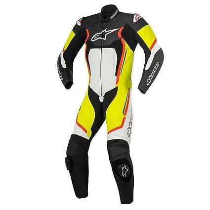 Alpinestars Racing Motegi V2 piel moto trajes - negro/blanco ...
