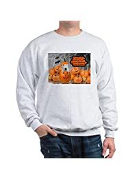 CafePress - Bull Terrier Halloween (White) - Classic Crew Neck Sweatshirt