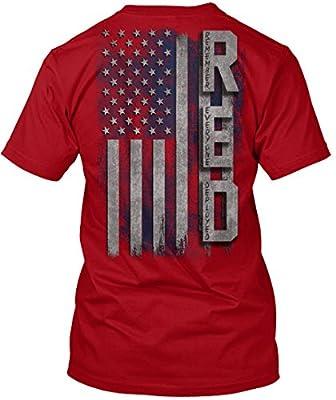 teespring R.e.d. Flag Tshirt - 100% Preshrunk Comfortsoft Cotton - Hanes Tagless Tee