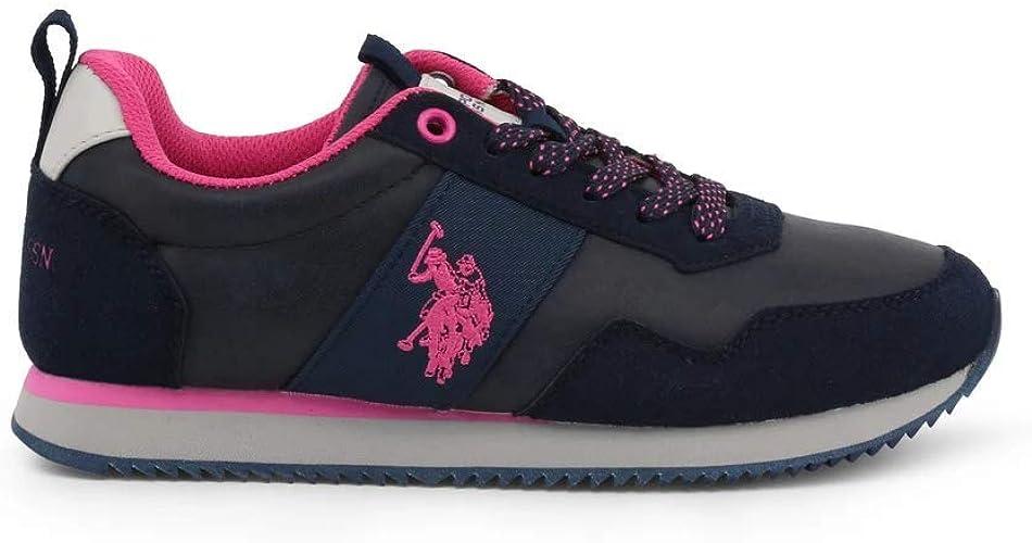 U.S. Polo Assn. Teva1 Club, Zapatillas de Gimnasia para Mujer ...