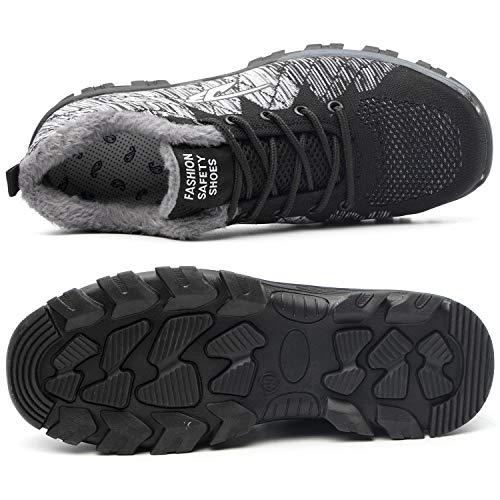 Chaussure De Avec Protection Homme Chaussures Embout Acier Gris Travail En Femme Noir Tqgold® Fourrure Yy Sécurité Ad5wBA0q