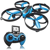 RCtown ELF II Mini Drone for Kids Headless Mode 3D 360° Flips & Rolls RC Quadcopter One-key Return 4 Channel 2.4GHz 6-Gyro Helicopter Remote Control