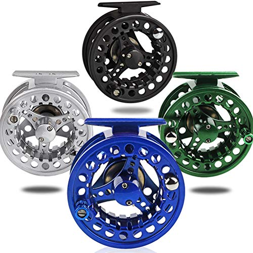(JRLGD Fly Fishing Reel with CNC-machined Aluminum Alloy Body Black 7/8)