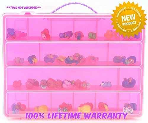 Life Made Better Toy Storage Organizer. Fits Up to 50 Mini Characters. Compatible With Teenie Genies Toys - (Pink Genie Costume)
