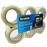 Scotch MT900181181 Cinta de Empaque, transparente, Paquete de 6