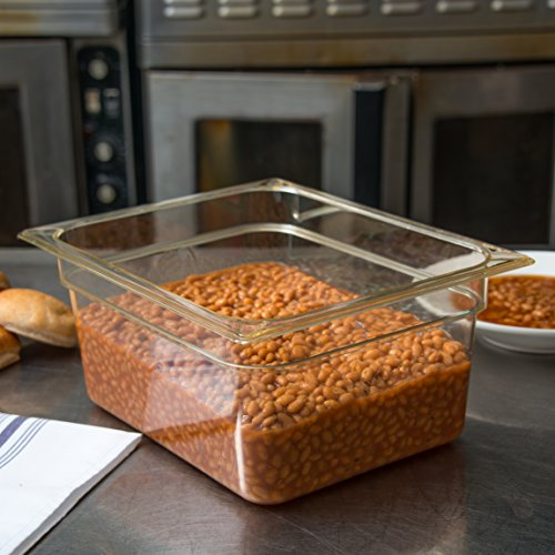 Carlisle 10422B13 High Heat One-Half Size Food Pan, 8.7-quart Capacity, 6'' x 10.38'' x 12.75'', Amber (Case of 6) by Carlisle (Image #3)