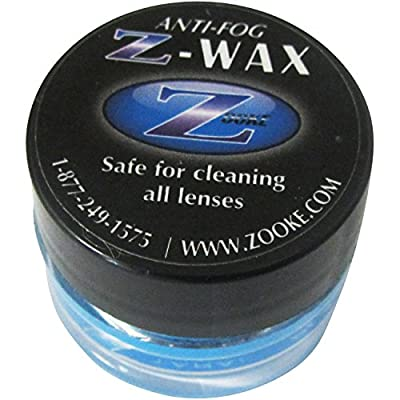 Zooke Z-Wax anti-fog defogger. No. 1 TOP Rated Anti-Fog Lens Cleaner. Zooke, The Original Anti-Fog defogger sold to millions of satisfied customers for over 30 years. Z-Wax will Clean over 400 Pair or Eyeglasses, Sunglasses, Goggles etc. Also use on Paint