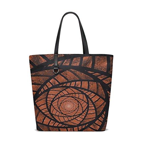 - Dnoving Women Fractal Red Brown Glass Fantasy Fractal Art Handle Satchel Handbags Shoulder Bag Tote Purse Messenger Bags