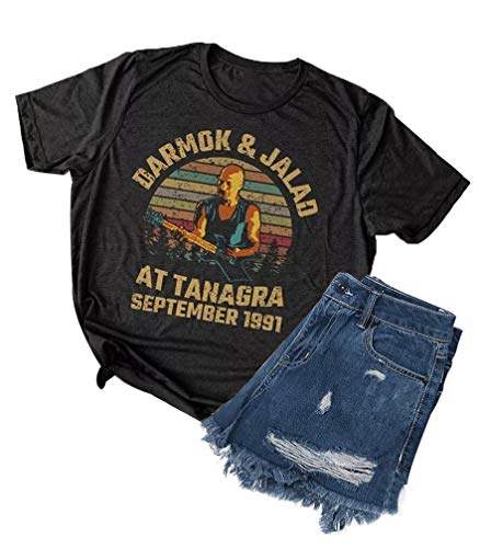 Women Vintage T-Shirt Darmok and Jalad at Tanagra September 1991 Funny Graphic Star Trek Top Size L (Dark Gray)