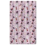 FSKDOM Cotton Plush Magic Rabbit Poker Card Key Pink Oversize Large - Velour Baby Hooded Bath/Beach/Pool Towel - 32'' X 51''