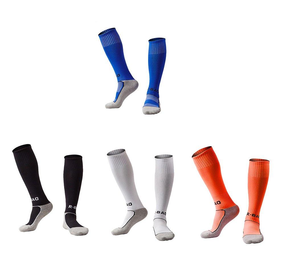 OUYAJI SOCKSHOSIERY ボーイズ B076215D9Q 4 Pairs(blue&black&white&orange) 4 Pairs(blue&black&white&orange)