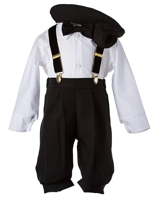 Amazon.com: Kids Solid Negro Outfit Formal con clip en ...