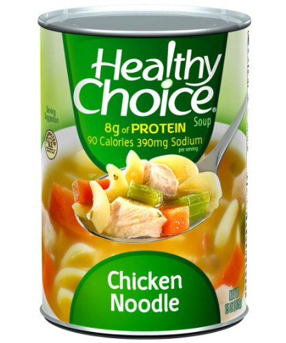 - Healthy Choice Chicken Noodle Soup, 15-Ounce Cans (Pack of 12)