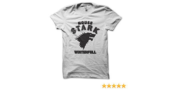 House Stark - Game Of Thrones Hombres White Camiseta