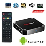 Greatlizard Android 7.1.2 X96 Mini TV Box Quad Core 2.4G Wifi 4K HD Support VP9 HEVC Decoding(2GB Ddr3 + 16GB EMMC)