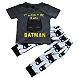 Baby Boys Batman Short Sleeve T-shirt and Graphics Pants Outfit