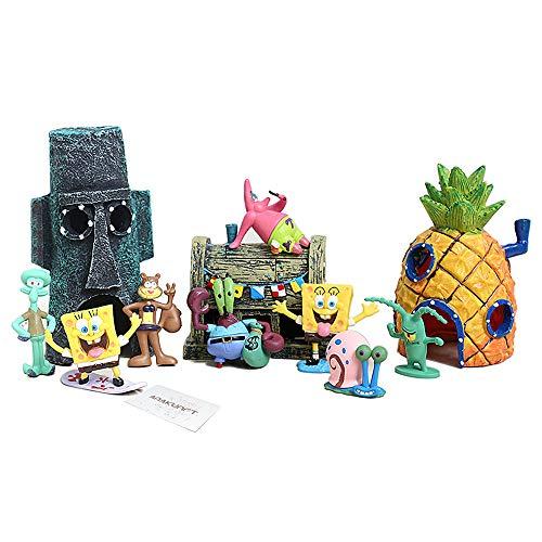 Aquarium Ornaments, Spongebob Fish Tank Decorations Set 11pc for $<!--$30.99-->