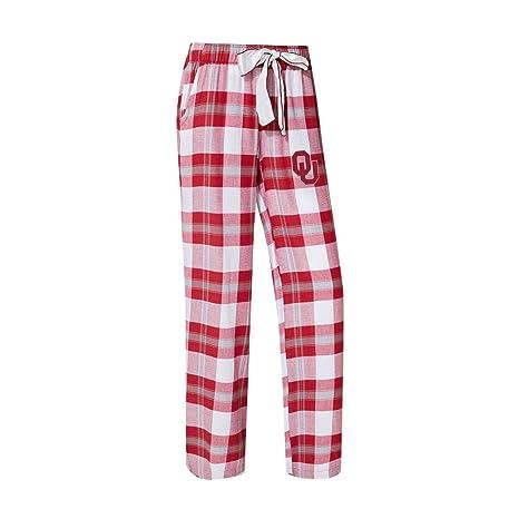 71803d28262 Concepts Sport University of Oklahoma Sooners Women s Flannel Pajamas Plaid  PJ Bottoms (Medium)