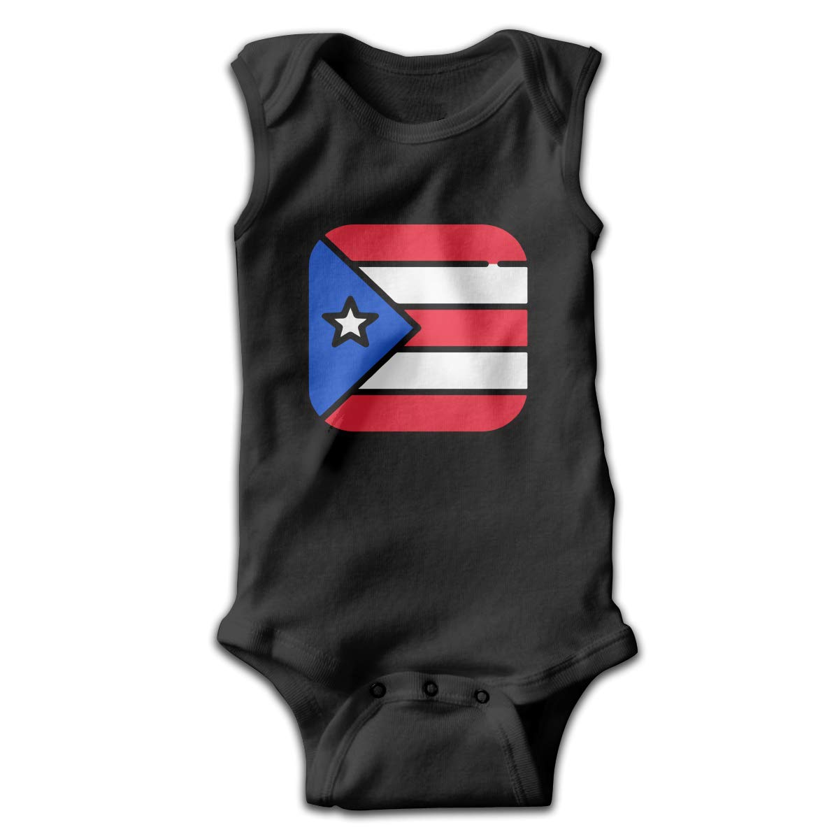 Newborn Puerto Rico Flags 1 Sleeveless Baby Clothes Playsuit 100/% Cotton