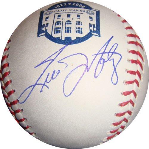 (TINO MARTINEZ SIGNED FINAL SEASON NEW YORK YANKEES STADIUM ROMLB BALL JSA COA NY)