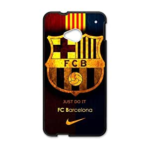 Fashion FC Barcelona Football Club HTC One M7 Cell Phone Cases Cover Popular Gifts(Laster Technology)