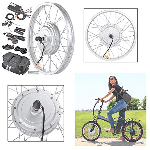 GC Global Direct 36v 750W 20 in Front Fat Tire Electric Bicycle E-Bike Motor Kit (36v 750W 20
