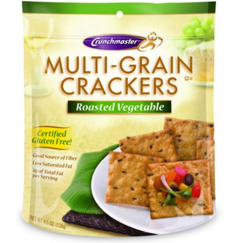 Multi-Grain Crackers Roasted Vegetable 4.50 Ounces (Case of 12) by Crunchmaster