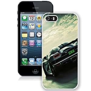 Beautiful Unique Designed iPhone 5S Phone Case With Koenigsegg Super Car_White Phone Case