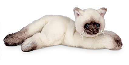082c966860f9 Amazon.com: Bearington Cleo Plush Stuffed Animal Siamese Cat, Kitten ...