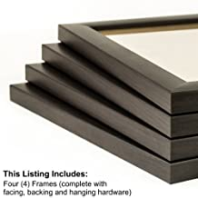 Craig Frames 23247778 11 by 17-Inch Picture Frame 4-Piece Set, Smooth Finish, 1-Inch Wide, Brazilian Walnut