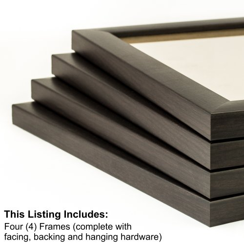 Craig Frames 23247778 13 by 19-Inch Picture Frame 4-Piece Set, Smooth Finish, 1-Inch Wide, Brazilian Walnut